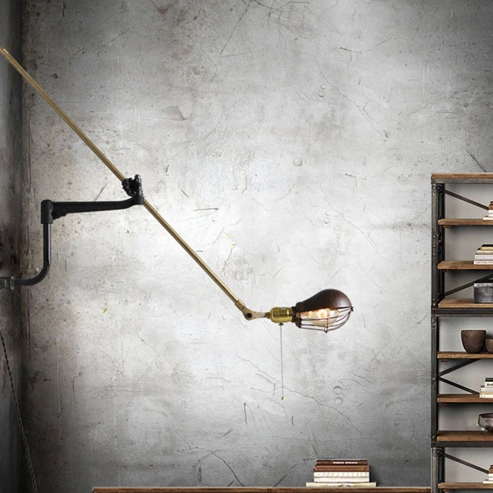 Wall Lamps Drawing : USD 195 Antique Industrial Wall Lamp Classic Art Nordic Wall Light E27 40W Vintage Swing Arm Light ...