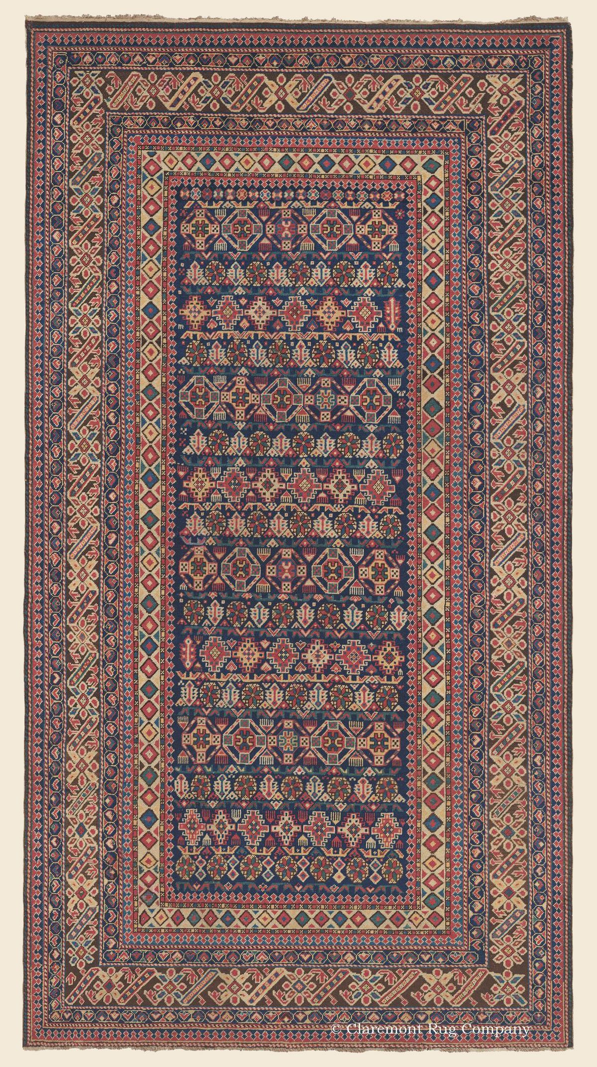 An Antique 4 10 X 9 0 3rd Quarter 19th Century Caucasian Chi Chi Rug In 2020 Claremont Rug Company Antiques Rugs