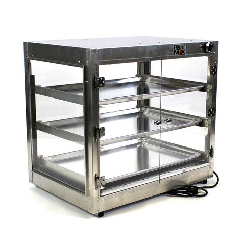 Commercial Countertop Food Warmer Display Case With Water Tray 29