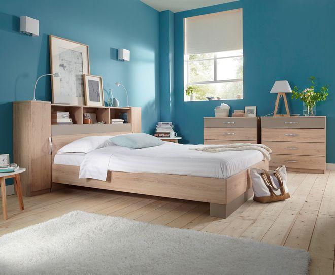 Une tête de lit bicolore   Tête de lit avec rangement, Tete ...