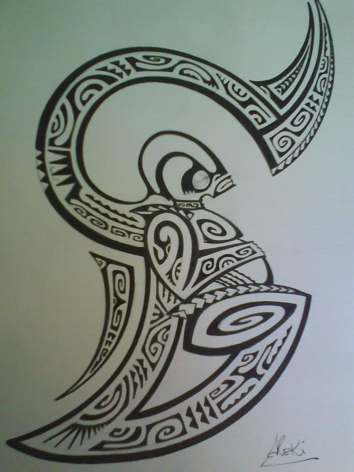Polynesian Sharks Mouth By Cameron Rutten: Tattoo Design Maori Style Of A Marquesas Tiki By Par Henua