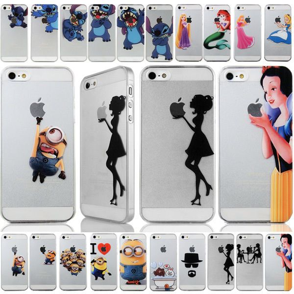 90e411cbe Details about PC pattern hard back Case protector For iPhone 4S 5S 6 6 plus  Cute