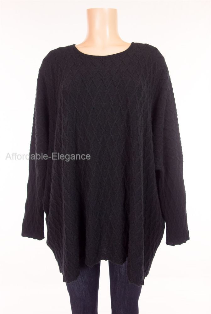 ESKANDAR 100% Cashmere Sweater O/S 1X 2X Chain Link Gothic Lattice ...