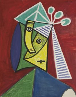 Tête de femme - Picasso - 1943 | Pablo Picasso | Pinterest | Picasso ...
