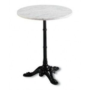 Table Bistrot En Marbre Ronde Mho1092001 French Cafe Decor French