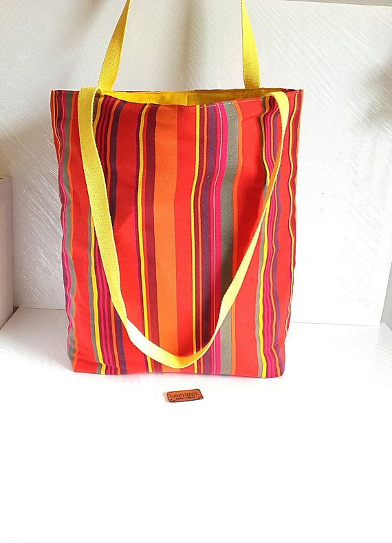 Women Canvas Tote Bag Shoulder Handbag Orange Yellow fyYb76g