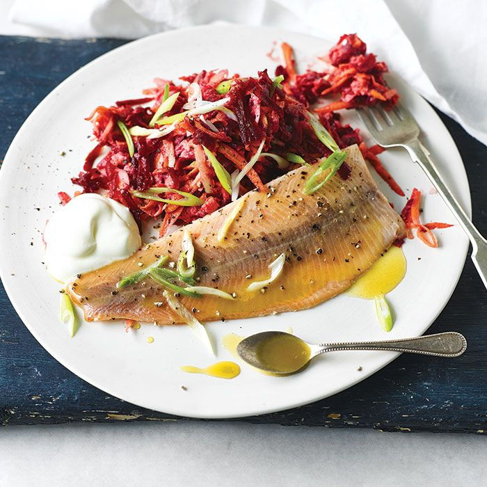 A Quick And Easy Smoked Trout & Root Slaw Recipe, From Our
