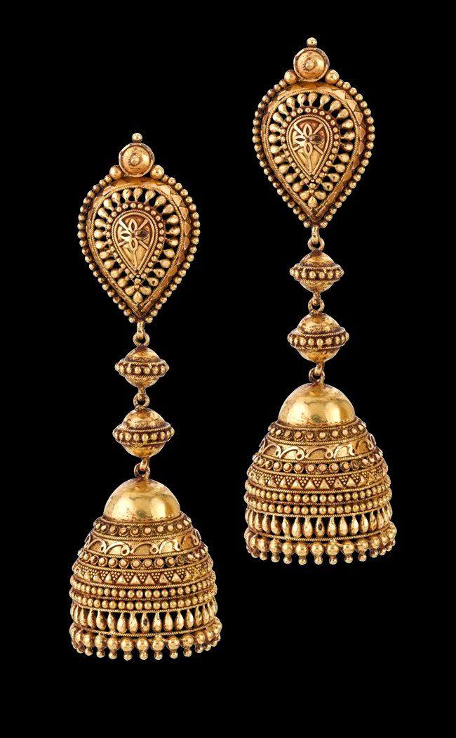 91539e628 Debleena Jhumka in gold   Bridal Jewelry in 2019   Jewelry, Gold ...