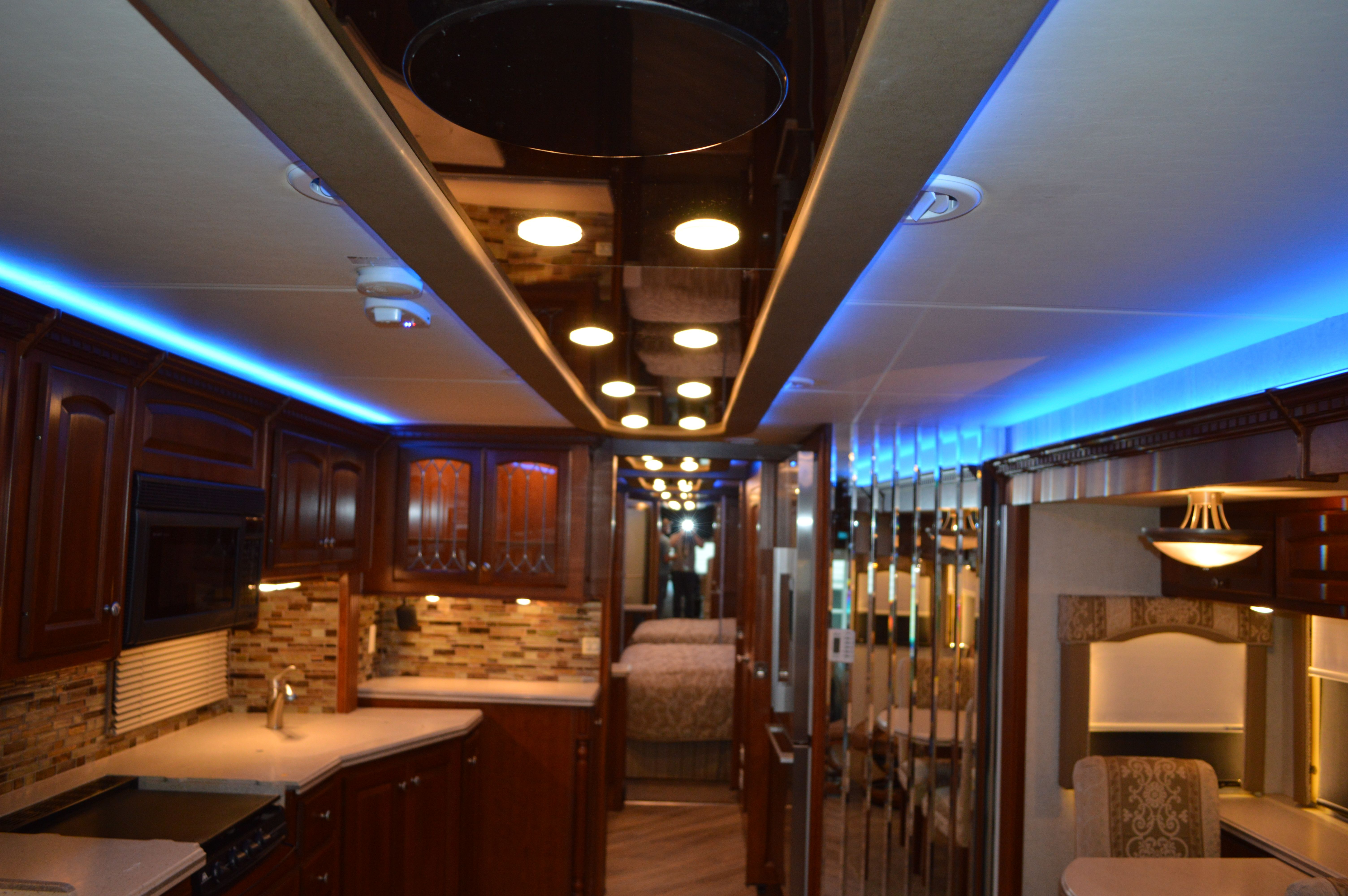 New custom mirrored ceiling with led lighting mirror ceiling custom mirrors rv motorhome
