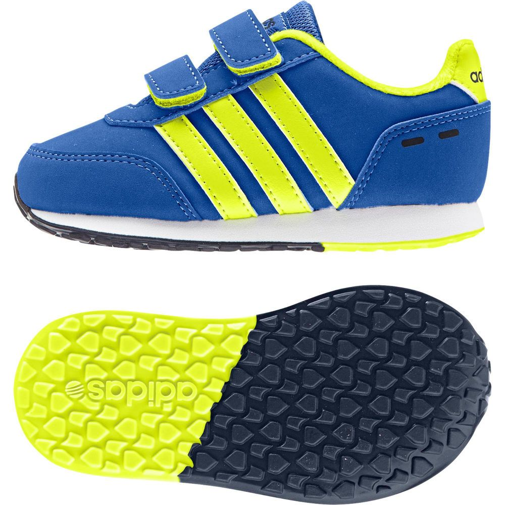 Adidas Running Kids NEO Switch VS Inf Shoes F98494 Blue/Solar Yellow Velcro  #Adidas