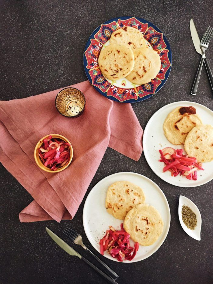 Authentic cheese pupusas with pickled curtido (cabbage) are cheesy, savory, and absolutely delicious. This Salvadoran dish is made with love and surprisingly simple to make.