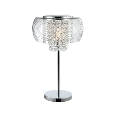 Table Lamps At Home Depot Captivating Hampton Bay  Della Chrome Table Lamp  Itl167Bch  Home Depot Design Inspiration