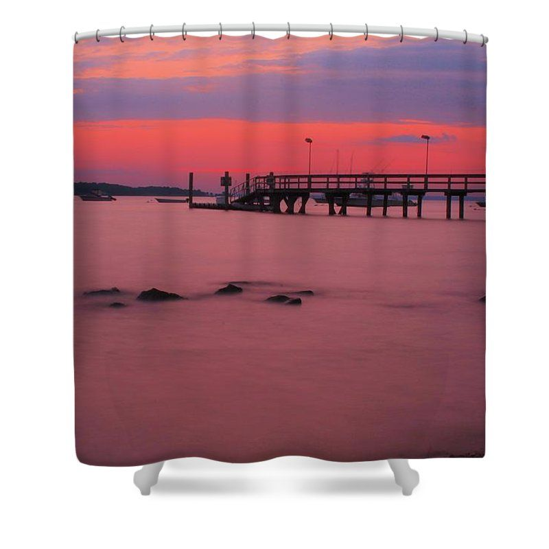 Smoky Water Sunset Shower Curtain For Sale By Karen Silvestri