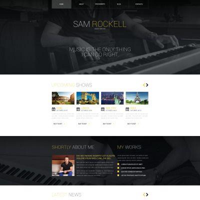 Personal Page Responsive Website Template | Vorlagen, Website ...