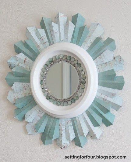 Beaded Sunburst Mirror