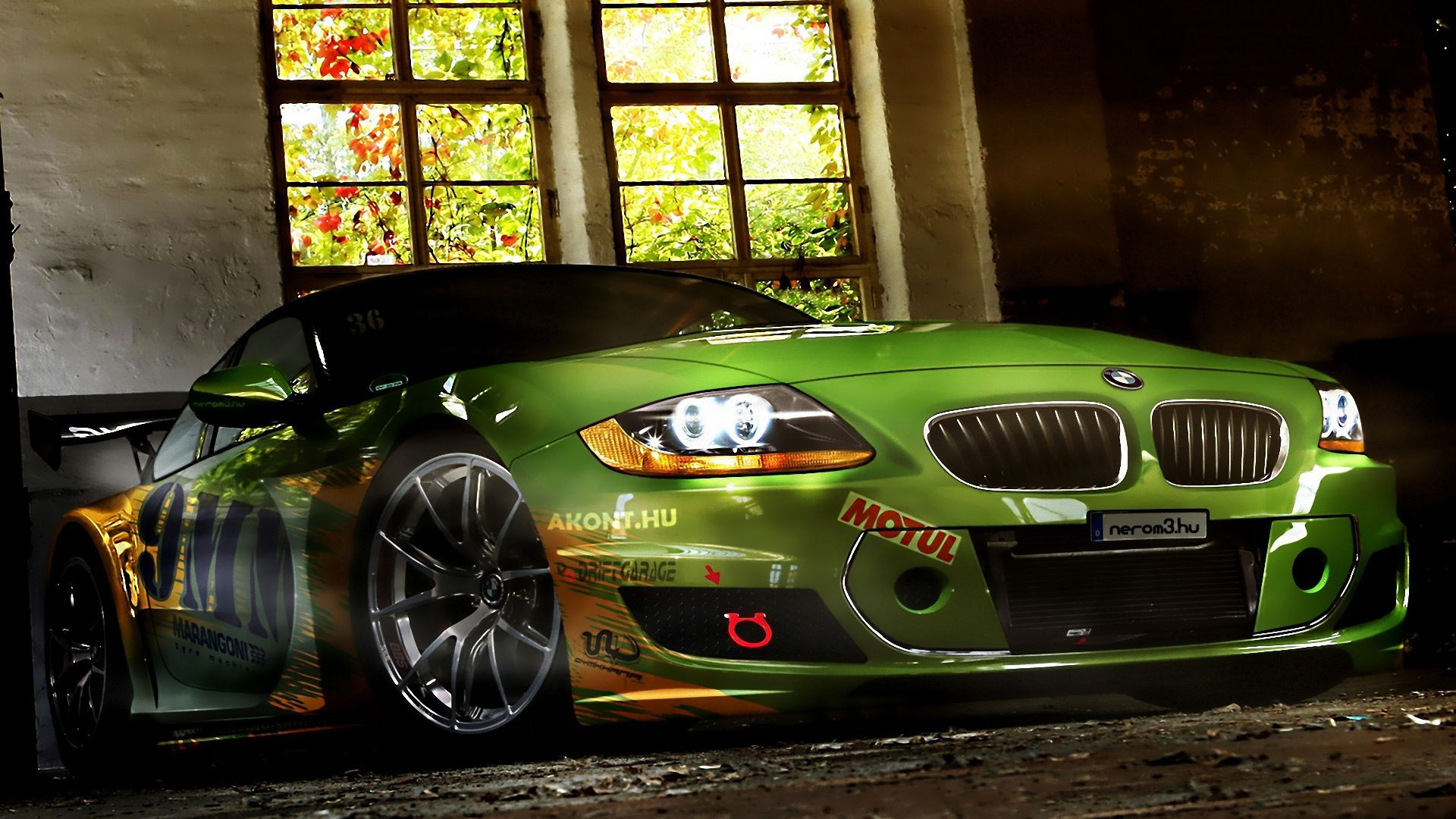 Green Bmw Modification Cars Hd Wallpaper Places To Visit