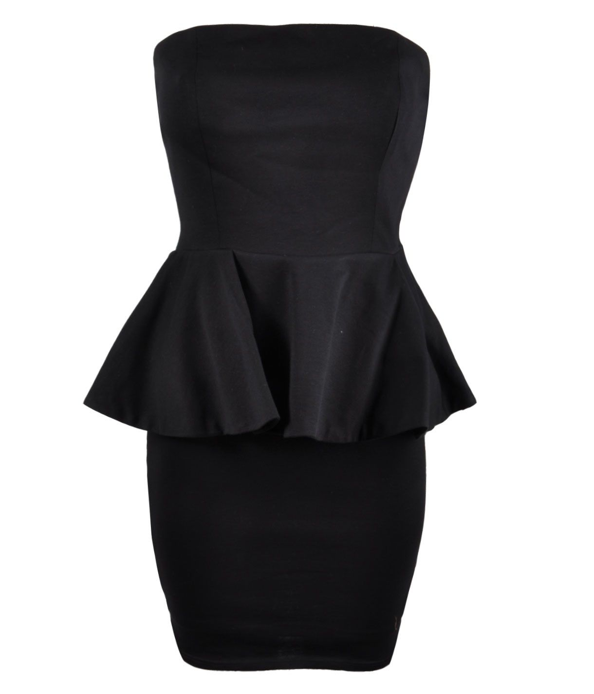 4ac02c0af Vestido ajustado negro con vuelo en cintura | Ropa | Vestidos cortos ...