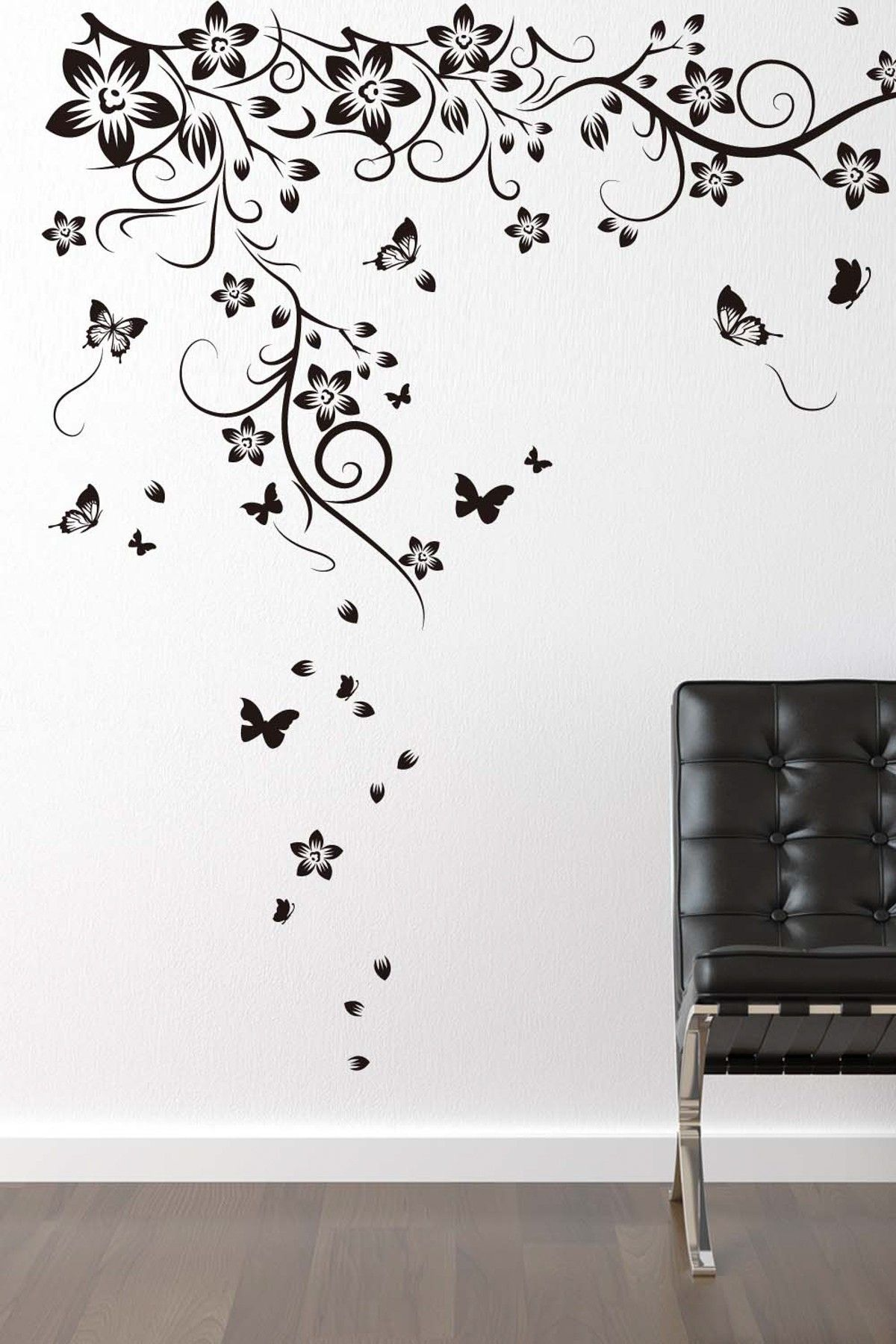 3d butterfly wall stckers wall decors wall art wall.htm walplus new huge butterfly vine decal  with images  vine decal  walplus new huge butterfly vine decal