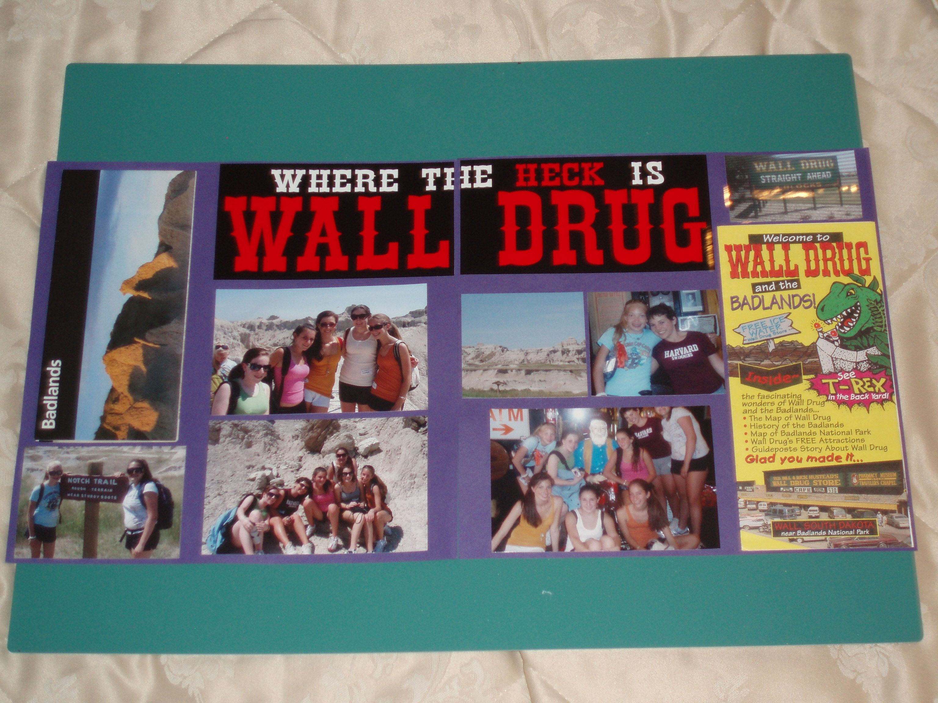 wall south dakota scrapbooking layouts travel travel on wall drug south dakota id=20469