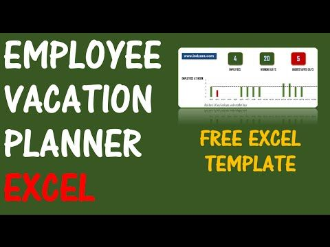 free employee annual leave tracker tool in excel vba youtube wg