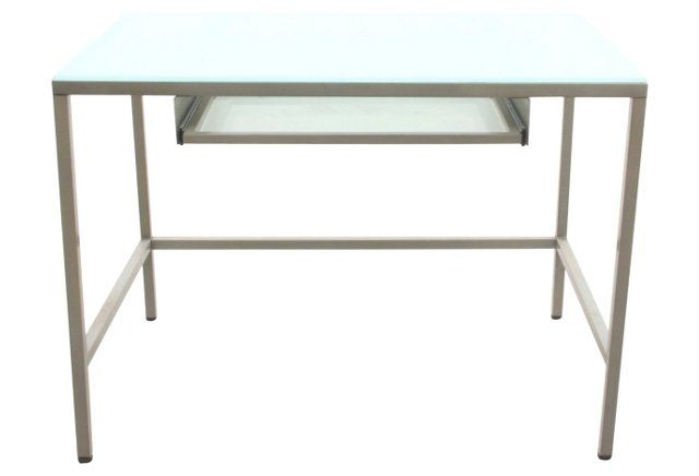 Mid Century Modern Glass Top Desk Modern Glass Top Desk Glass Top Desk Architects Desk