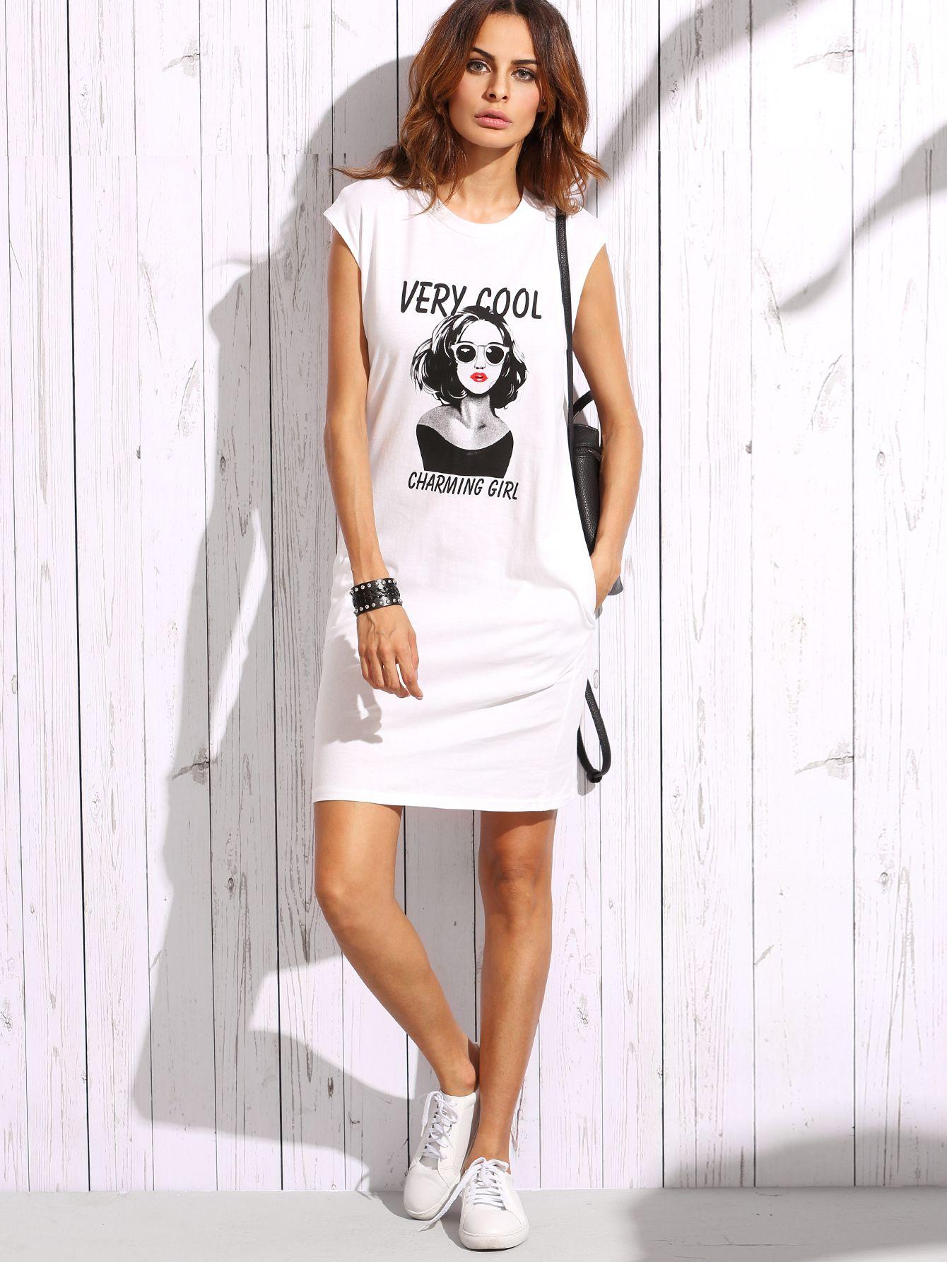 T-Shirt Kleid mit Druck   Pinterest   Drucke und Shirts