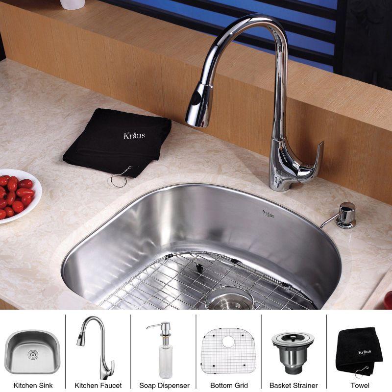 Kraus KBU10 KPF1621 KSD30 Kitchen Combo
