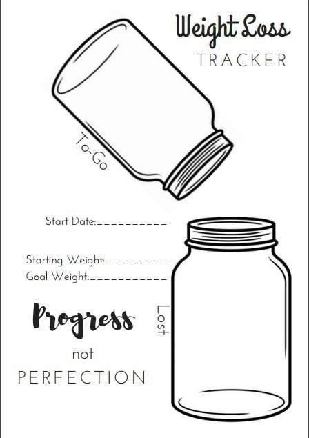 5 Free Printable Bullet Journal Weight Loss Pages