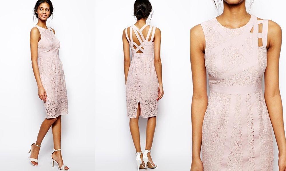 asos kleid 36 38 s m hellrosa spitze fest dress pink rosa. Black Bedroom Furniture Sets. Home Design Ideas