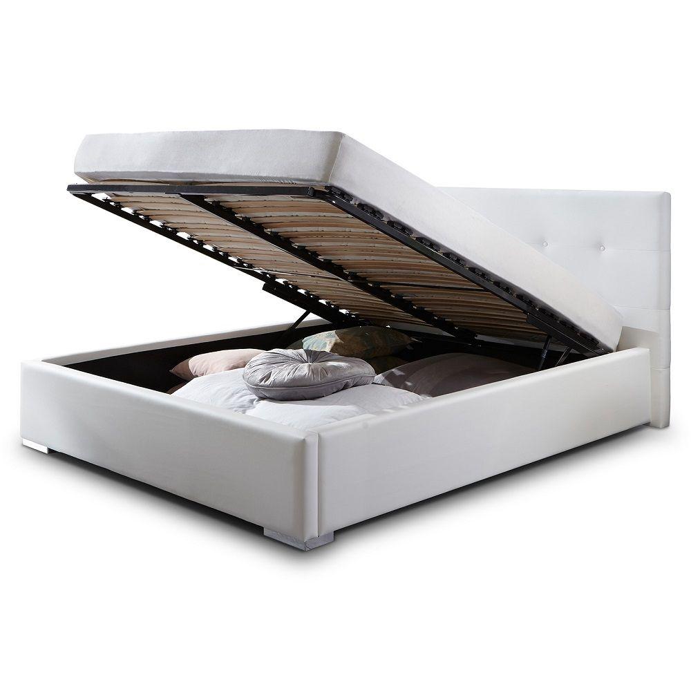 sch n bett 120x200 wei mit bettkasten laras bett in 2019 bett bett 120x200 und bett. Black Bedroom Furniture Sets. Home Design Ideas