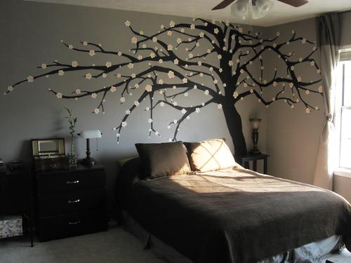 Delightful Cutest Adult Bedroom Iu0027ve Ever Seen. Tree Wall ArtTree ...