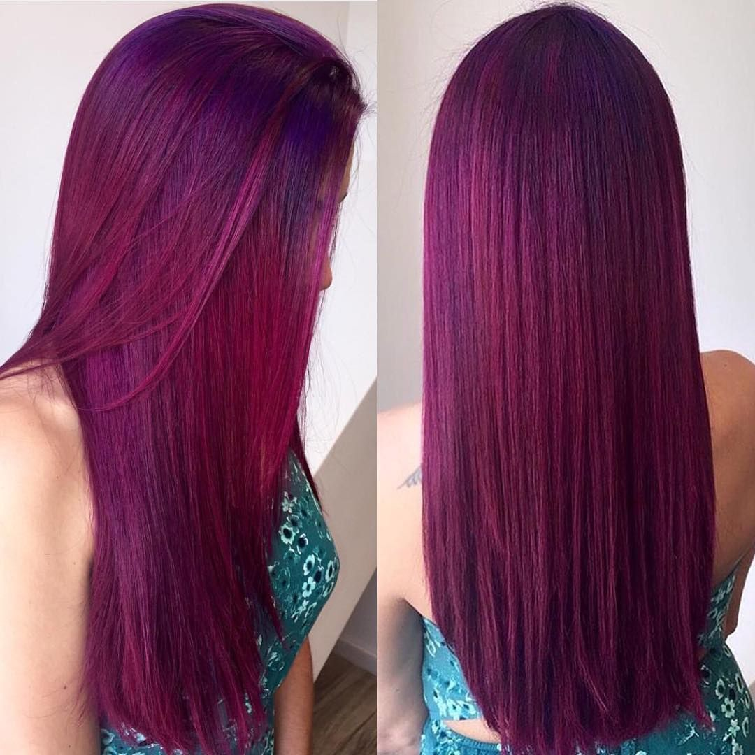 Picture of black and magenta balayage hair - 50 Striking Dark Red Hair Color Ideas Bright Yet Elegant Check More At Http