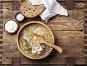 Traditional Russian Sour Cabbage Sauerkraut Soup  Food  Savoury Dishes