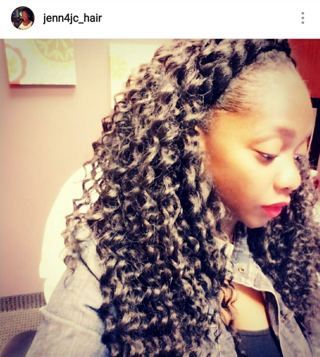 Crochet Hairstyle With Halo Braid Hairstyle Hair Styles Braids