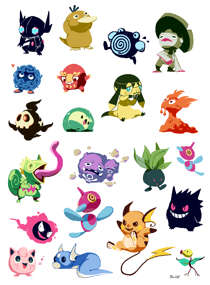 Pixel pokemon by bluekomadori.deviantart.com on @DeviantArt