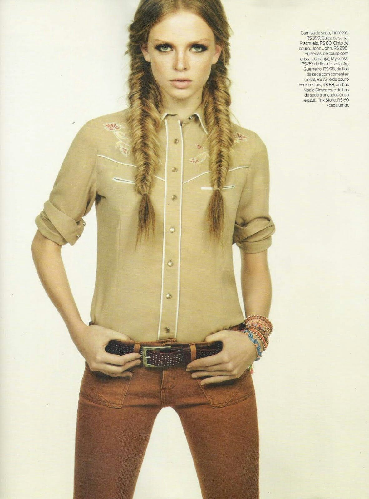 Cowgirl Hairstyles Pinfox Firre On Elle Brasil Dezembro 2012  Pinterest