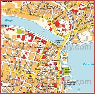 Turisticheskaya Karta Konstanca S Dostoprimechatelnostyami Karty