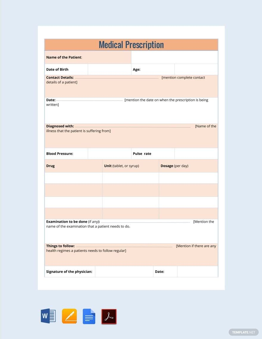 Free Nephrology Doctor's Prescription in 2020