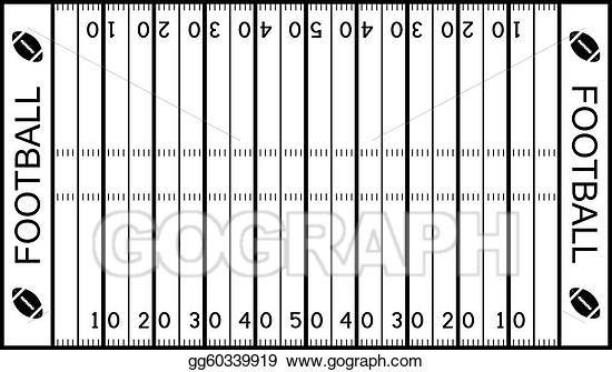Vector American Football Field Football Field American Football Football