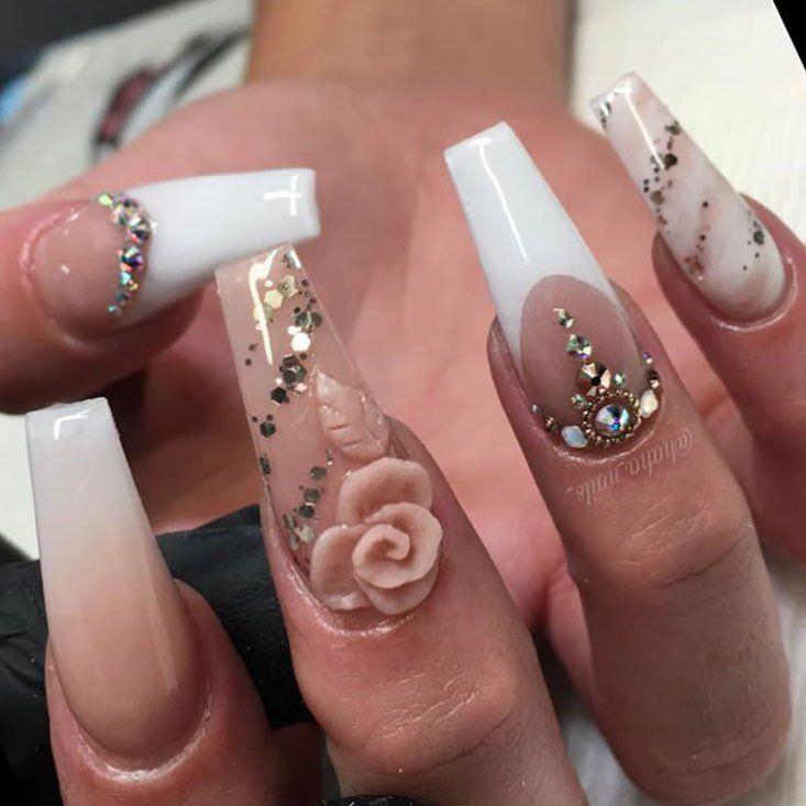 Pin de Adela Aragon en Uñas largas | Pinterest | Diseños de uñas ...