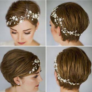 Short & beautiful: Die schönsten Brautfrisuren für kurze Haare – Boda fotos