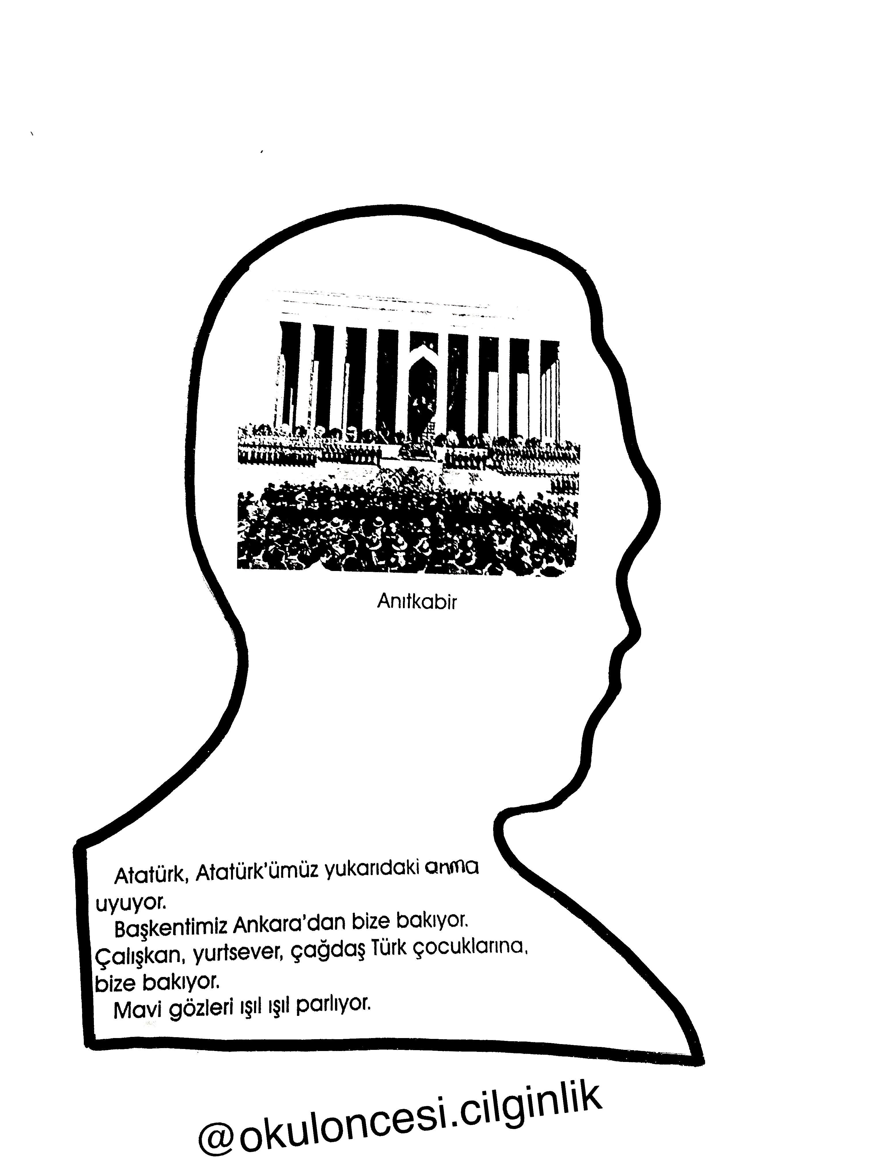 Ataturk Kitapcigi Kalip 7 Okuloncesi Cilginlik Basak Ogretmen Faaliyetler Ogretmenler Okul