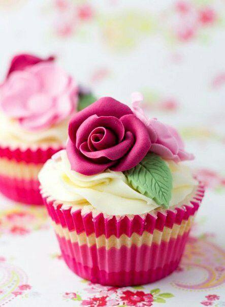 cupcake, rose, and pink image