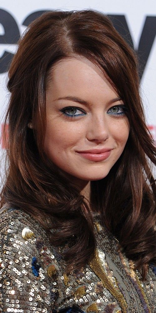 Emma Stone: Emma Stone With Brown Hair