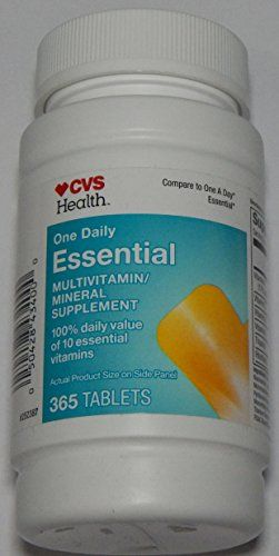 Cvs Health One Daily Essential Multivitaminmultimineral Supplement 1 Bottle Of 365 Tablets Continue To Women Nutrition Vitamin Tablets Multivitamin Mineral
