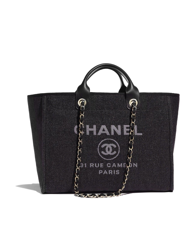 3bf3b144b84d Chanel Dark Blue Deauville GM Denim Two-Way Beach Tote Bag $3,099.00 ...