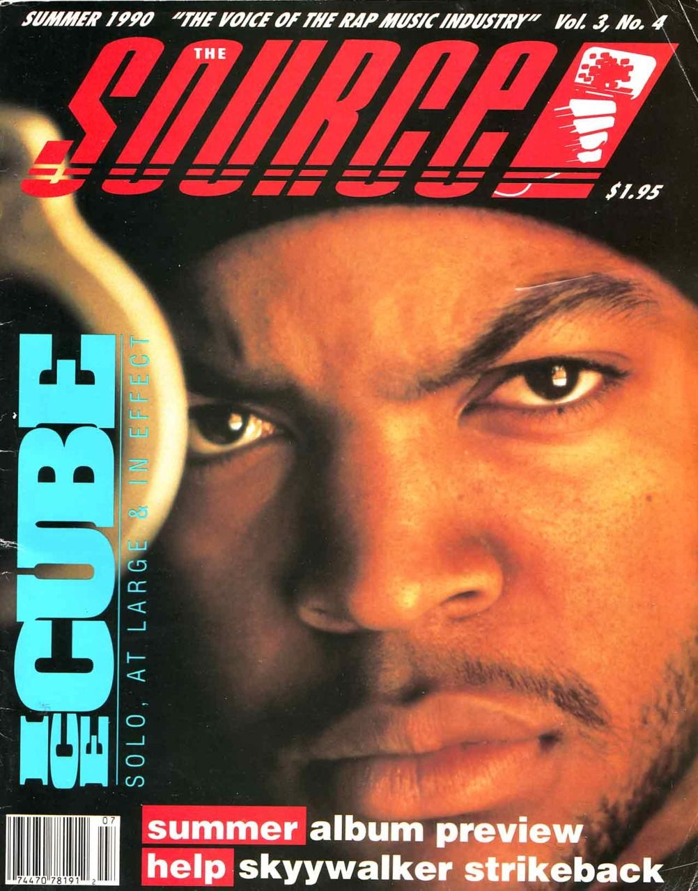 Ice Cube Cover Photo Minimalist the source (summer 1990) featuring ice cube | hip-hop magazines