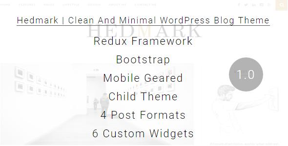 Hedmark | Clean & Minimal Responsive WordPress Blog Theme ...