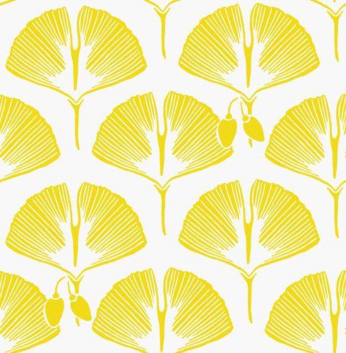 yellow and white designer wallpaperkuboaa ginko goarse yellow
