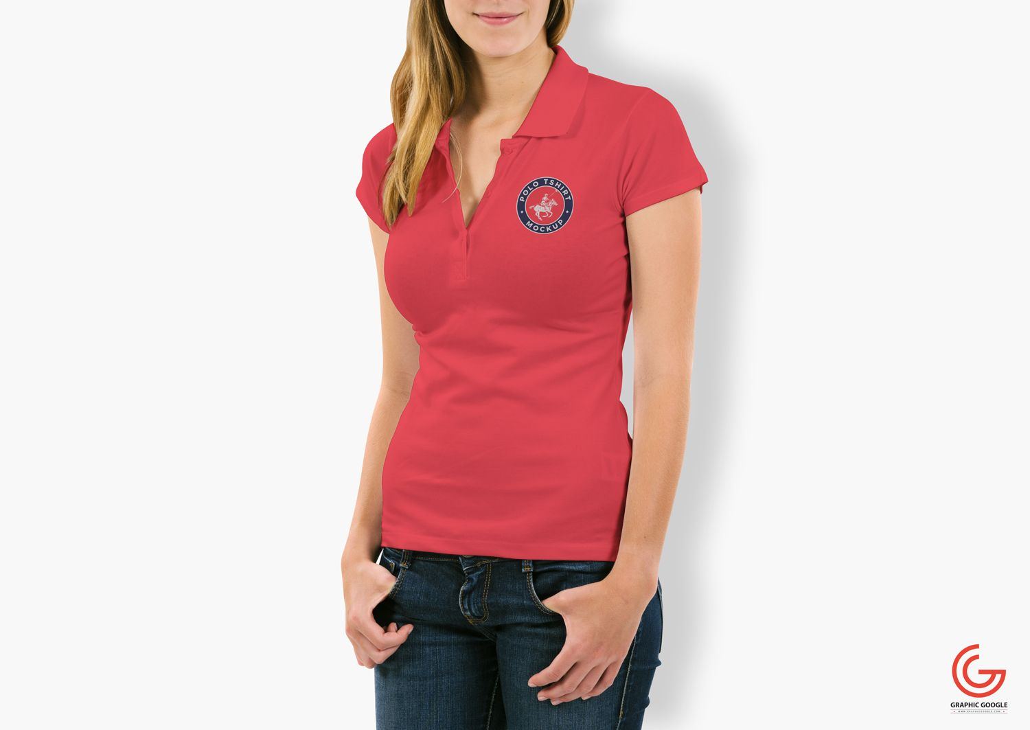Download Free Woman With Polo T Shirt Mockup Psd 1 Polo Shirt Women Polo Shirt Design Shirt Mockup